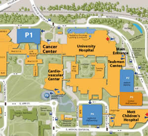 Map Of University Of Michigan Directions, Parking and Transportation | Bus Routes, Valet Parking