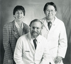 From Left: Marcy Waldinger, CC Administrator; Max Wicha, MD, Director; Alfred Chang, MD