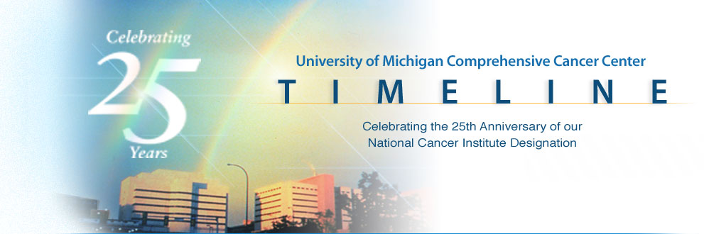 UM Cancer Center 25th Anniversary Timeline