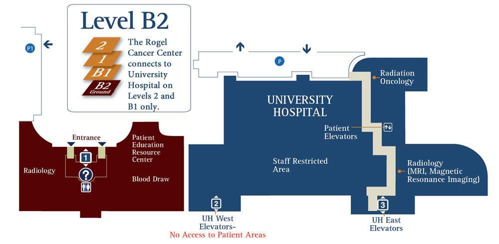 Internal Maps | Floor B2 | University of Michigan Rogel Cancer Center