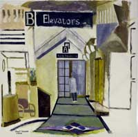 painting of level b1 lobby