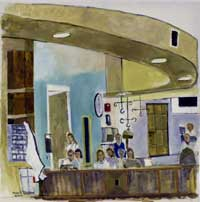painting of infusion center entrance