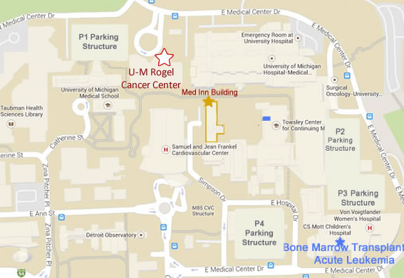 Maps and Directions | Driving Directions and Floor Maps | University Driving Map on